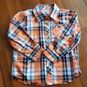 Old Navy 5t plaid long sleeve button shirt